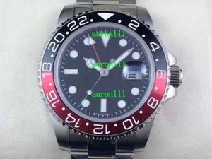 Lüks Erkek Mekanik İzle 116710 116710blnr Seramik Bezel GMT II Marka Yeni İsviçre ETA 2836 Otomatik Hareketi Erkekler Paslanmaz Çelik Saatler