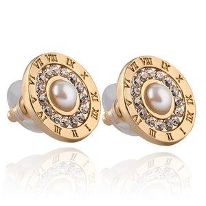 2019 Boucles d'oreilles zircon strass perles Tournesol modèles féminins boucles d'oreille Bijoux de mode Cadeaux pour les femmes libre zj-0903774