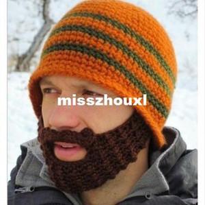 100pcs Hot Sale Fashion Handmade Knit Crochet Beard hat Beanie Mustache Warmer Ski hat