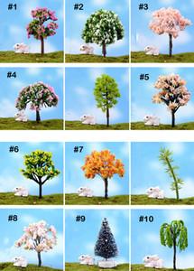 100 Pz Mix mini alberi artificiali Salice Sakura fata miniature da giardino mini terrari figurine per la decorazione del giardino all'ingrosso