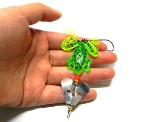 macio New Plastic inseto 6.2g 100pcs colher girador pesca isca sapo macio Bait macio isca artificial Pesca Lure leurre brochet