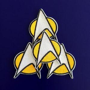 GP-59 핫 세일! 도매 5 * 6CM STAR TREK 군사 패치 스타 함대 철에 / 바느질에 패치 t- 셔츠 TRANSFER MOTIF APPLIQUE 락 펑크 배지