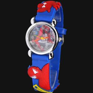 3d bande dessinée belle enfants filles garçons enfants étudiants spider-man montre-bracelet à quartz très populaire
