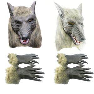 Хэллоуин Косплей Реалистичные Оборотень Взрослый Волк Маски Латекс Костюм Опора C00121