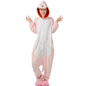 Inverno Unisex Adulto rosa dinossauro onesie Pijama Cosplay animal pijama onesies dragão rosa das mulheres pijama animal pijama kawaii Macacão