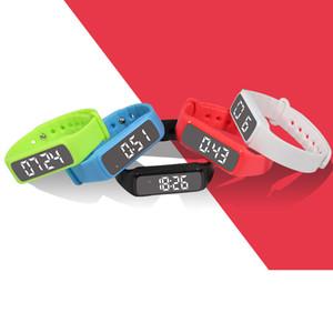 Pulseira inteligente de moda, relógio inteligente, pedômetro de movimento de vidro de passo 3D, temperatura, exibição de tempo, monitor de sono relógio atacado