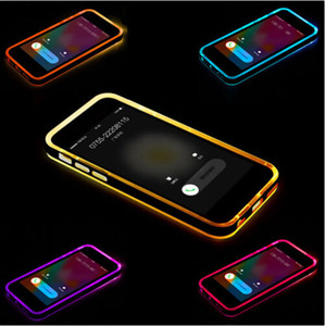2016 Chiamate in arrivo ibride lampeggianti Clear TPU Case Light LED Cover posteriore a LED per iphone 6 6S plus 5S SE 4S Samsung Galaxy S6 S5 note 4 A5 A7