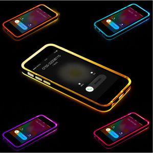 2016 llamadas entrantes híbridas parpadean claro TPU PC caso luz LED contraportada para iphone 6 6S plus 5S SE 4S Samsung Galaxy S6 S5 nota 4 A5 A7