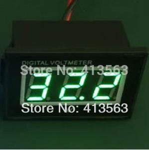 도매 - 도매 미니 DC4.5V - 30V 그린 방수 디지털 Voltmeter 볼트 패널 미터 1pcs # 00010 (크기 : 50mm x 30mm x 27mm)