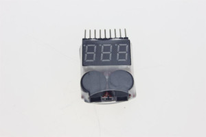 Lipo Battery Voltage Tester Volt Meter Indicator Checker Dual Speaker 1S-8S Low Voltage Buzzer Alarm 2in1 2S 3S 4S 8S