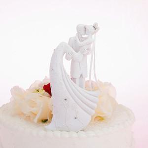 유럽식 웨딩 케이크 장식 웨딩 인형 화이트 로맨틱 웨딩 케이크 토퍼 신부 및 신랑 케이크 장식