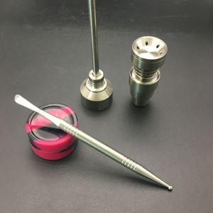 Chiodi banger in titanio Bong Set di strumenti 14 / 18mm Domeless Grade 2 Titanium Cap Carb Dabber dab rig Bong di vetro Smoking Water Pipes