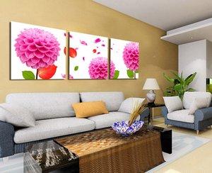 Красивый Розовый Цветок Гортензии Живопись Жикле Печать На Холсте Декор Стен Set30033