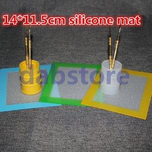 Atacado antiaderente Silicone Baking Mats antiaderente tapete de Silicone 14 * 11,5 polegadas Silicone Dab Mat Dab Pad com fibra de vidro
