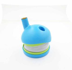Flexible Flex Kunststoff Stretch Caterpillar Tabak-Zigaretten-Rauchpfeifen Grün Tabakpfeife Rauchen Zubehör Klon Werkzeuge
