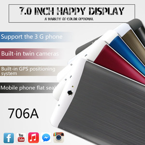 3G Tablet PC 7 pouces MTK6572 Dual core 512 Mo 8 G Phablet Tablets PC Android Bluetooth GPS wifi Double Caméra Avec des fentes de carte SIM appel téléphonique