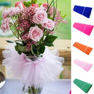 """Nuevo diseño del perno Tul 54 """"X40 yardas Tutu tela de nylon Pew arco nupcial del favor de partido decoraciones de la boda del color 10"""