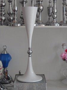 Оптовые белые трубы ментальные вазы для свадебного стола