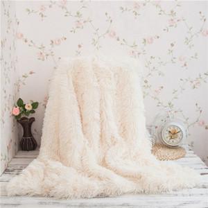130 * 160CM Coperta in maglia piena di cotone 100% Coperte Ufficio Coperta singola Nap Coperta a maglia Super morbida di alta qualità WINLIFE Super Soft