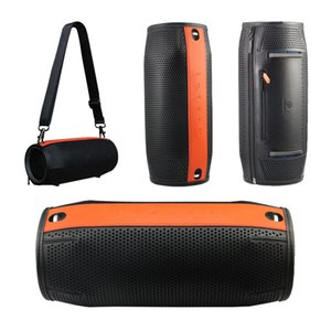 Travel Bag Carry Pouch Protective Cover Case for JBL Xtreme Wireless Bluetooth Speaker Premium PU Carry Bag(Black+Orange)