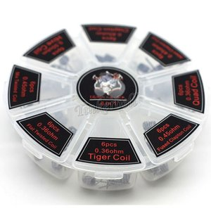 8 en 1 Demon Killer Wire Prebuilt Coils Clapton Quad Tiger Hive Alien Fused Clapton Mix Twisted Coil fit DIY atomizador