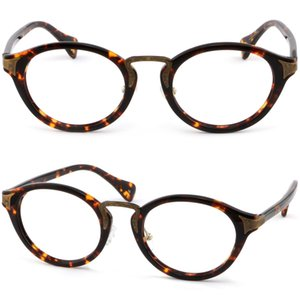 Round Men Womens Acetate Plastic Frame Tortoiseshell Prescription Glasses Lenses