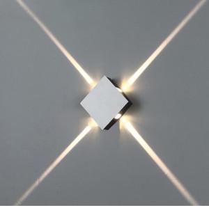 4W LED Applique Mounted Surface intérieure Cube Applique murale à LED Blanc / Noir Up And Down Wall Light Éclairage d'intérieur Lampe Support