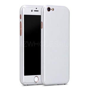 2016 new 360 Degree Full Coverage Case for Apple iPhone 6  6S  Plus Hard PC Front Clear Screen Film Protective Cover