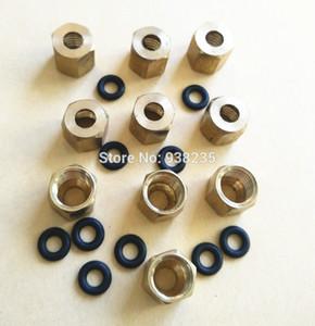 All'ingrosso- 10 pezzi / lotto vite grande serranda Rame Viti dadi oring Stud Fissare su Damper DX5 DX4 su tubo di inchiostro 4 (O.D) * 3 (I.D) + 2pcs Tampone di cotone