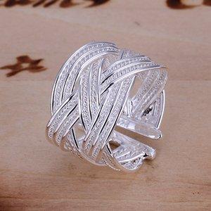 Envío gratis venta al por mayor de plata de ley 925 mujeres plateadas anillos de moda joyería para regalos R024