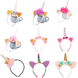 20 Designs Mädchen Kinder Dekorative Einhorn Hairwear Kopf Phantasie Party Horn Haar Stirnband Kostüm Cosplay Kostüm Schmuck Geschenk
