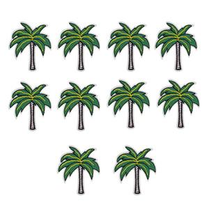 10 PCS coqueiros bordados patches para roupas de ferro remendo para roupas applique acessórios de costura crachá adesivos em pano de ferro no remendo