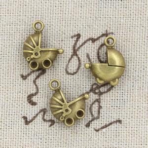 80 adet Charms pram bebek-araba 16 * 13mm Antik Yapma kolye fit, Vintage Tibet Bronz, DIY bilezik kolye
