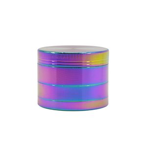 Fancy Color 2'' Inch Four Pieces Metal Tobacco Spice Zinc Alloy Herb Grinder with Pollen Catcher Free Shipping