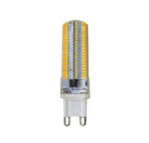 Regulável G9 G4 E14 7W 450lm 152leds Branco / Warm White Lâmpadas 3014SMD milho Luz Bi-Pin Lâmpada AC 220V