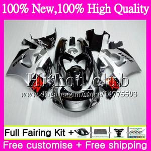 Bodys per SUZUKI SRAD GSXR 600 750 nero argento GSXR750 96 97 98 99 00 20HT19 GSX-R600 GSXR600 1996 1997 1998 1999 2000 Carenatura del motociclo