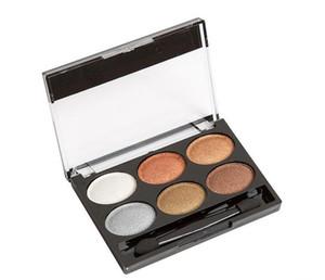 6 цвет палитры теней для век макияж глаз Neked тени для век косметические с кистью жемчужина голый макияж тени для век DHL Бесплатная доставка