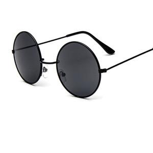 Nuovo designer di marca Occhiali da sole rotondi classici da uomo Piccoli vintage Retro John Lennon Occhiali da sole Donna con occhiali in metallo UV400 Y102