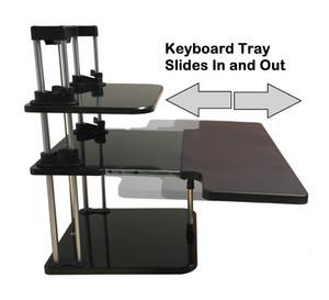 Sit / Stand Desk Riser Tre livelli regolabili in altezza Leggero Stand Up Laptop Desk / Table Supporto per notebook / monitor