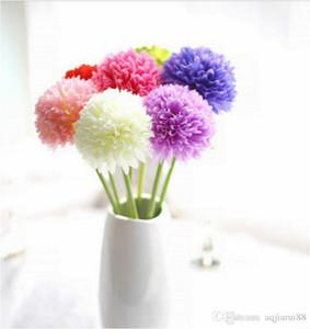 10pcs / lot Single-Head Petit Hydrangea Oignon Ball Simulation Fleurs Soie Fleur Ménage Oignon Ball De Mariage Livraison Gratuite