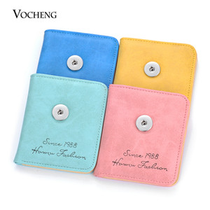 VOCHENG NOOSA Ginger Snap Jewelry Snap Charms PU Material Jewelry Findings for 18mm Snap Button 7 Colors NN-629