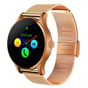 K88H смарт-часы 1.22-дюймовый IPS круглый экран Поддержка монитор сердечного ритма Bluetooth smartWatch для apple huawei IOS Android