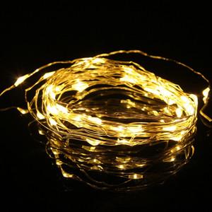 5 M 50 LED 3XAA Bateria Operado LED String Luz De Fadas Para O Natal Garland Party Home Decoração de Casamento Branco Morno / Branco Frio