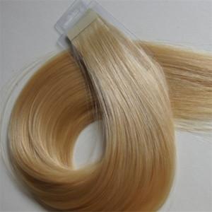 Оптовая 10А - русский Remy Extensions Double Drawn Pu ленты в волосах Extensions Virgin 100% человеческих волос, свободная DHL