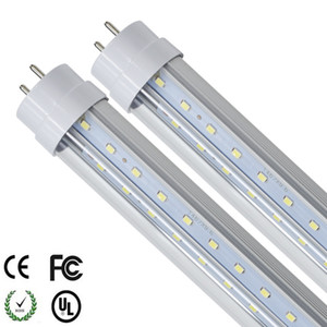 G13 T8 LED Tube V Shape 4FT 1200mm 4 feet Double sides Ligh rotating For cooler door LED fluorescent light AC85-265V UL