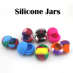 Contenedores de silicona de silicona tarros de silicona de colores bolas de cera de contenedores colores mezclados para cigarrillos E envío rápido