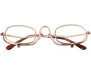 Boa Qualidade Lupa Compõem Óculos Dobráveis Óculos Óculos Cosméticos Óculos de Leitura Com Bolsa Flip Down Lens Flip