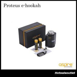 Autêntico Aspire Proteus e-hookah Kit Com 18mL E Cachimbo De água Do Tanque Com Substituível 0.16ohm Bobina Aspire Proteus E Cig Kit 100% Original