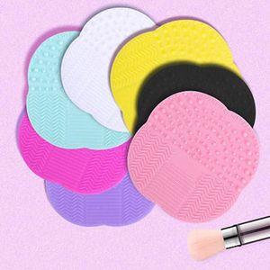 Оптовая продажа 60 шт./лот силиконовые очистки косметический макияж щетка для мытья гель очиститель скруббер инструмент Фонд макияж очистки коврик Pad инструмент