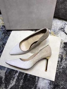 Moda nuove donne pompe da sposa JC tacchi alti sandali 10.5CM punta a punta con tacco sposa diamante London Dress Shoes (scatola originale) Taglia 35-40